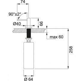 Комплект Мойка BFG651-78 + смеситель Novara (хром) + дозатор Neptune (хром)