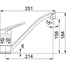 Комплект Мойка STG 614-78 + смеситель Novara (хром)