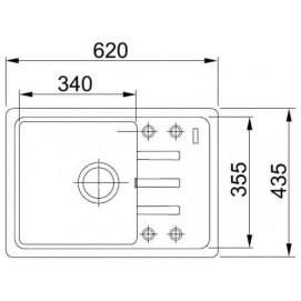Комплект Мойка BSG611-62 + смеситель Pola Neo (гранит) + дозатор Comfort (гранит)