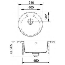 Комплект Мойка ROG610 + смеситель Novara (гранит) + дозатор Comfort (гранит)