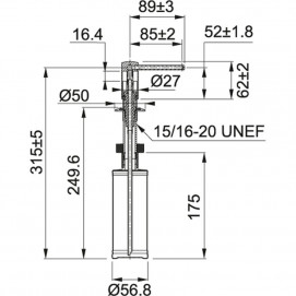 Комплект Мойка UBG 610-56 + смеситель Novara (хром) + дозатор Comfort (хром)
