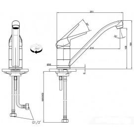 Комплект Мойка UBG 610-56 + смеситель Novara (гранит) + дозатор Comfort (гранит)