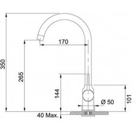 Комплект Мойка UBG 610-56 + смеситель Pola Neo (гранит) + дозатор Comfort (гранит)